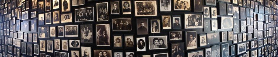 Le mur des photos à Birkenau