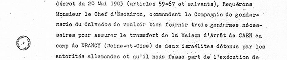 Correspondance préfectorale sur le transfert de D. Furmanski et M. Finkelstein (1er oct. 1942)