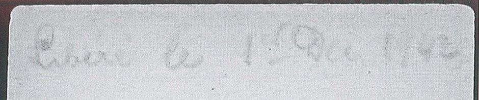 Au dos des fiches établies à Drancy